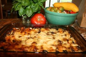 Fresh eggplant parmigiana