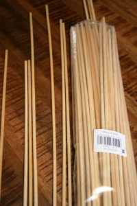 Marshmallow sticks for tomato stakes