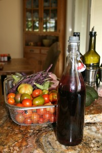 Homemade wine vinegar